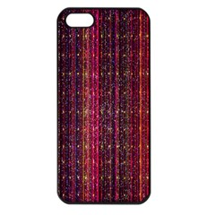 Colorful And Glowing Pixelated Pixel Pattern Apple Iphone 5 Seamless Case (black) by Simbadda
