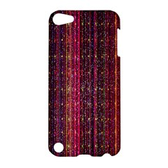 Colorful And Glowing Pixelated Pixel Pattern Apple Ipod Touch 5 Hardshell Case by Simbadda