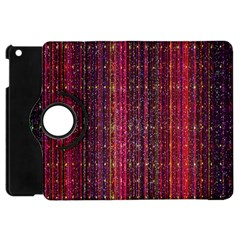 Colorful And Glowing Pixelated Pixel Pattern Apple Ipad Mini Flip 360 Case by Simbadda