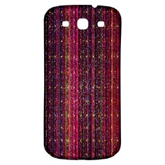 Colorful And Glowing Pixelated Pixel Pattern Samsung Galaxy S3 S Iii Classic Hardshell Back Case by Simbadda