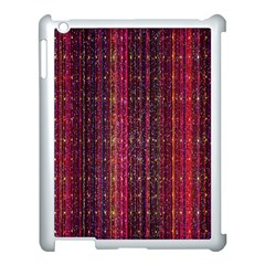 Colorful And Glowing Pixelated Pixel Pattern Apple Ipad 3/4 Case (white) by Simbadda