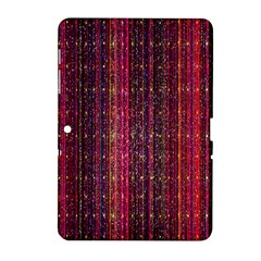 Colorful And Glowing Pixelated Pixel Pattern Samsung Galaxy Tab 2 (10 1 ) P5100 Hardshell Case  by Simbadda