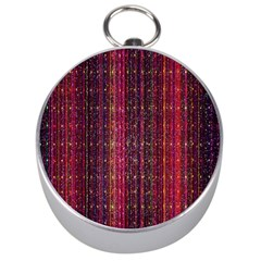 Colorful And Glowing Pixelated Pixel Pattern Silver Compasses by Simbadda