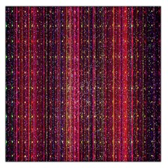 Colorful And Glowing Pixelated Pixel Pattern Large Satin Scarf (square) by Simbadda