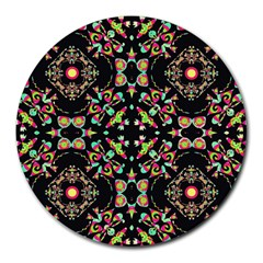 Abstract Elegant Background Pattern Round Mousepads