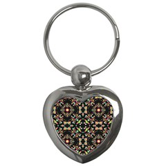 Abstract Elegant Background Pattern Key Chains (heart)  by Simbadda