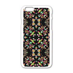 Abstract Elegant Background Pattern Apple Iphone 6/6s White Enamel Case by Simbadda