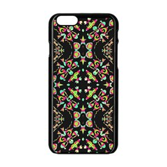 Abstract Elegant Background Pattern Apple Iphone 6/6s Black Enamel Case by Simbadda