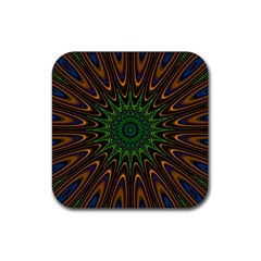 Vibrant Colorful Abstract Pattern Seamless Rubber Coaster (square)  by Simbadda