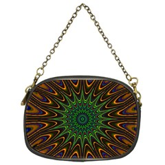 Vibrant Colorful Abstract Pattern Seamless Chain Purses (one Side)