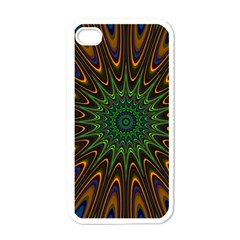 Vibrant Colorful Abstract Pattern Seamless Apple Iphone 4 Case (white) by Simbadda