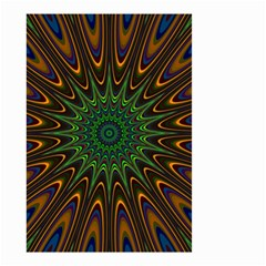 Vibrant Colorful Abstract Pattern Seamless Small Garden Flag (two Sides) by Simbadda
