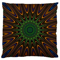 Vibrant Colorful Abstract Pattern Seamless Large Cushion Case (one Side) by Simbadda