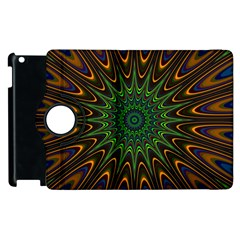 Vibrant Colorful Abstract Pattern Seamless Apple Ipad 3/4 Flip 360 Case by Simbadda