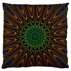 Vibrant Colorful Abstract Pattern Seamless Large Flano Cushion Case (one Side) by Simbadda