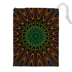 Vibrant Colorful Abstract Pattern Seamless Drawstring Pouches (xxl)