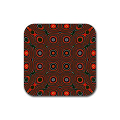 Vibrant Pattern Seamless Colorful Rubber Square Coaster (4 Pack)  by Simbadda