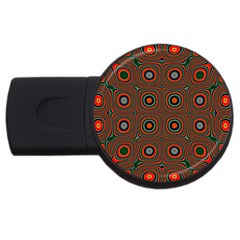 Vibrant Pattern Seamless Colorful Usb Flash Drive Round (4 Gb) by Simbadda