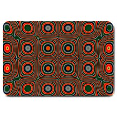 Vibrant Pattern Seamless Colorful Large Doormat  by Simbadda