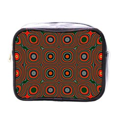 Vibrant Pattern Seamless Colorful Mini Toiletries Bags