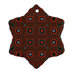 Vibrant Pattern Seamless Colorful Snowflake Ornament (two Sides)