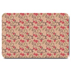 Vintage Flower Pattern  Large Doormat