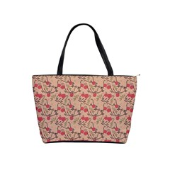 Vintage Flower Pattern  Shoulder Handbags by TastefulDesigns