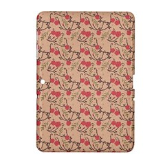 Vintage Flower Pattern  Samsung Galaxy Tab 2 (10 1 ) P5100 Hardshell Case  by TastefulDesigns