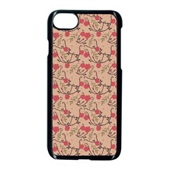 Vintage Flower Pattern  Apple Iphone 7 Seamless Case (black) by TastefulDesigns