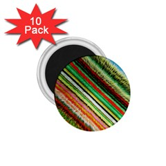 Colorful Stripe Extrude Background 1 75  Magnets (10 Pack)