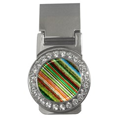 Colorful Stripe Extrude Background Money Clips (cz)  by Simbadda