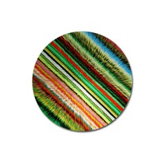 Colorful Stripe Extrude Background Magnet 3  (round)
