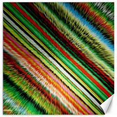 Colorful Stripe Extrude Background Canvas 12  X 12   by Simbadda