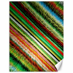Colorful Stripe Extrude Background Canvas 12  X 16   by Simbadda