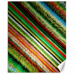 Colorful Stripe Extrude Background Canvas 16  X 20   by Simbadda