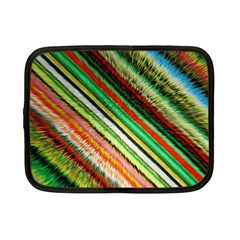 Colorful Stripe Extrude Background Netbook Case (small)  by Simbadda