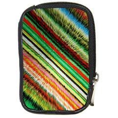 Colorful Stripe Extrude Background Compact Camera Cases by Simbadda