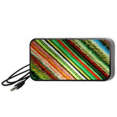 Colorful Stripe Extrude Background Portable Speaker (black) by Simbadda