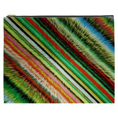 Colorful Stripe Extrude Background Cosmetic Bag (xxxl)  by Simbadda