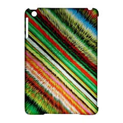 Colorful Stripe Extrude Background Apple Ipad Mini Hardshell Case (compatible With Smart Cover) by Simbadda