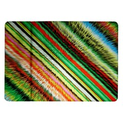 Colorful Stripe Extrude Background Samsung Galaxy Tab 10 1  P7500 Flip Case