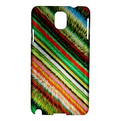 Colorful Stripe Extrude Background Samsung Galaxy Note 3 N9005 Hardshell Case by Simbadda