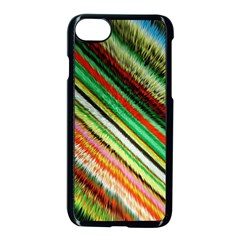 Colorful Stripe Extrude Background Apple Iphone 7 Seamless Case (black) by Simbadda