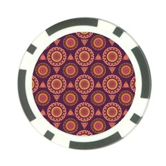 Abstract Seamless Mandala Background Pattern Poker Chip Card Guard by Simbadda