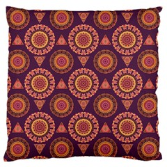 Abstract Seamless Mandala Background Pattern Large Cushion Case (one Side) by Simbadda