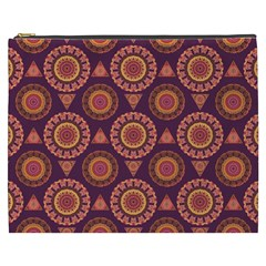 Abstract Seamless Mandala Background Pattern Cosmetic Bag (xxxl)