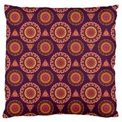Abstract Seamless Mandala Background Pattern Large Flano Cushion Case (one Side) by Simbadda