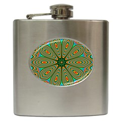 Vibrant Seamless Pattern  Colorful Hip Flask (6 Oz) by Simbadda
