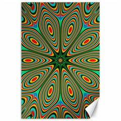 Vibrant Seamless Pattern  Colorful Canvas 24  X 36  by Simbadda