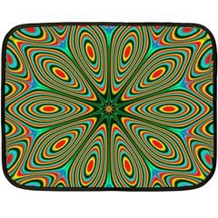 Vibrant Seamless Pattern  Colorful Double Sided Fleece Blanket (mini)  by Simbadda